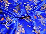 Chinesischer Satin Drache Brokat Kleid Stoff Meterware,