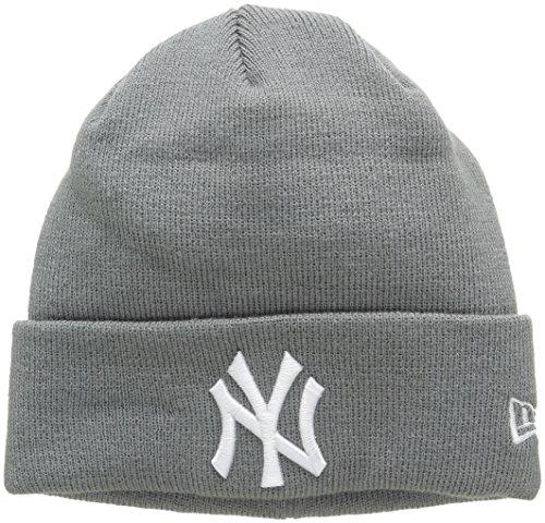 New Era Essential Cuff Neyyan Stg - Cappello Linea New York Yankees da Uomo, colore Grigio, taglia OSFA