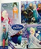 Disney Frozen Activity Fun Pack 5 Piece Bundle for Kids Activity Books including Colouring Stickers Puzzles Reading Writing includes Gift Bag and BONUS FREE 2016 Annual (Full Retail Value £22.45)
