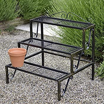 Plant Terrace - 3 Tier Metal Plant Stand