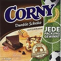 CORNY Dunkle Schoko mit Edelkakao, Müsliriegel, 138g Schachtel mit 6 Riegeln