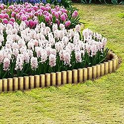 tidyard 25 unids Postes Madera Postes de Valla Barrera de Jardín Estanque o Piscina Madera de Pino Verde Impregnada 5x30cm