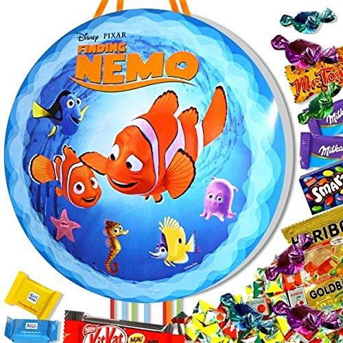 Nemo-Zugpinata-Set mit Süßigkeiten, Clownfisch-Pinata für Unterwasserwelt Party