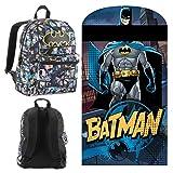 DC Comics Batman de voyage/Sleepover Lot-Y Compris Batman à capuche Slumber Sac et Comic Sac à dos imprimé