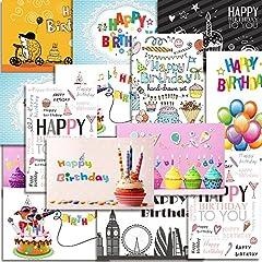 Idea Regalo - Kuuqa 20 Pezzi Buon Compleanno Carte Con 20 buste, biglietti d'auguri progettato da KUUQA