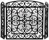 Esschert Ff27B 61 x 59 x 21cm Cast-Iron Fire Place Screen - Black