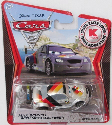 disney-pixar-cars-2-exclusive-155-die-cast-car-silver-racer-max-schnell-with-metallic-finish