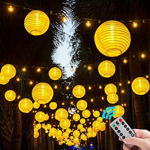 Lampion Lichterkette Außen,4.2m 20 Lampions Lichterkette Für  Party,Geburtstag,Hochzeit,Garten.