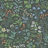 BorasTapeter Jubileum 5474 Vliestapete Blumenmotiv vielfarbig auf anthrazit