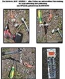 8 er SET - ALU GEHÄRTETE SCHRAUBHERINGE - ZELTHERINGE - SPEZIAL ALU GEHÄRTET - Holly ® Produkte STABIELO ® - DER HÄRTESTE ALU PROFI WURMI ® - 8 Stck. aus SPEZIAL gehärtetem Aluminium 30 cm mit Metallschäkel - Wurmi-produkte ® für CAMPING-CARAVAN-OUTDOOR-FREIZEiT - MADE in GERMANY - LANGZEIT-TEST bestanden - holly sunshade -