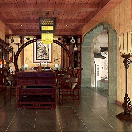 Kamaca PVC-Material Chinesischer Stil Tapete Vintage Nachahmung Holzmaserung Tapeten Missa Elegance Wohnzimmer Schlafzimmer Konferenzräume Tapete 53* 1000cm D (Elegance 3 Stück)