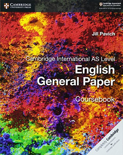 Cambridge international AS level English general paper. Coursebook. Per le Scuole superiori (Cambridge International Examinations)