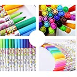 #4: Enem Premium Fabric Markers - 12 Rich Pigment Fine Permanent Graffiti Coloring Pens - Child Safe & Non Toxic - For Art Writing on Bags, Shoes, T-shirts & Other Fabric Paint Materials