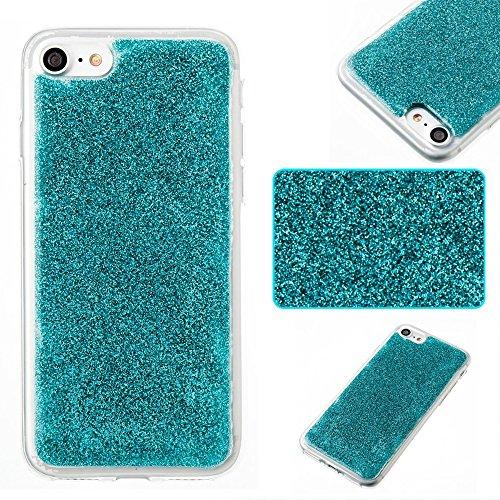 DaYiYang Weiches flexibles Silikon TPU Ultra dünner Gel-Abdeckungs-Fall Bling Glitter 360 ° volle Abdeckung Rückseitige Abdeckung [Shockproof] für iPhone 7 ( Color : Purple ) Green