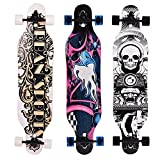 Longboard Skateboard Board Cruiser-Komplettboard mit ABEC-9 High Speed Kugellager ,103x25x10cm (Farbe 9)