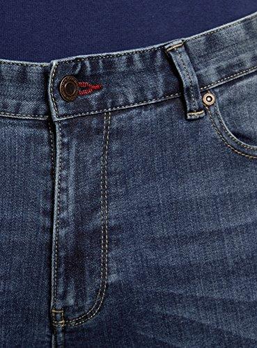 oodji Ultra Uomo Jeans Slim Fit Blu (7500W)