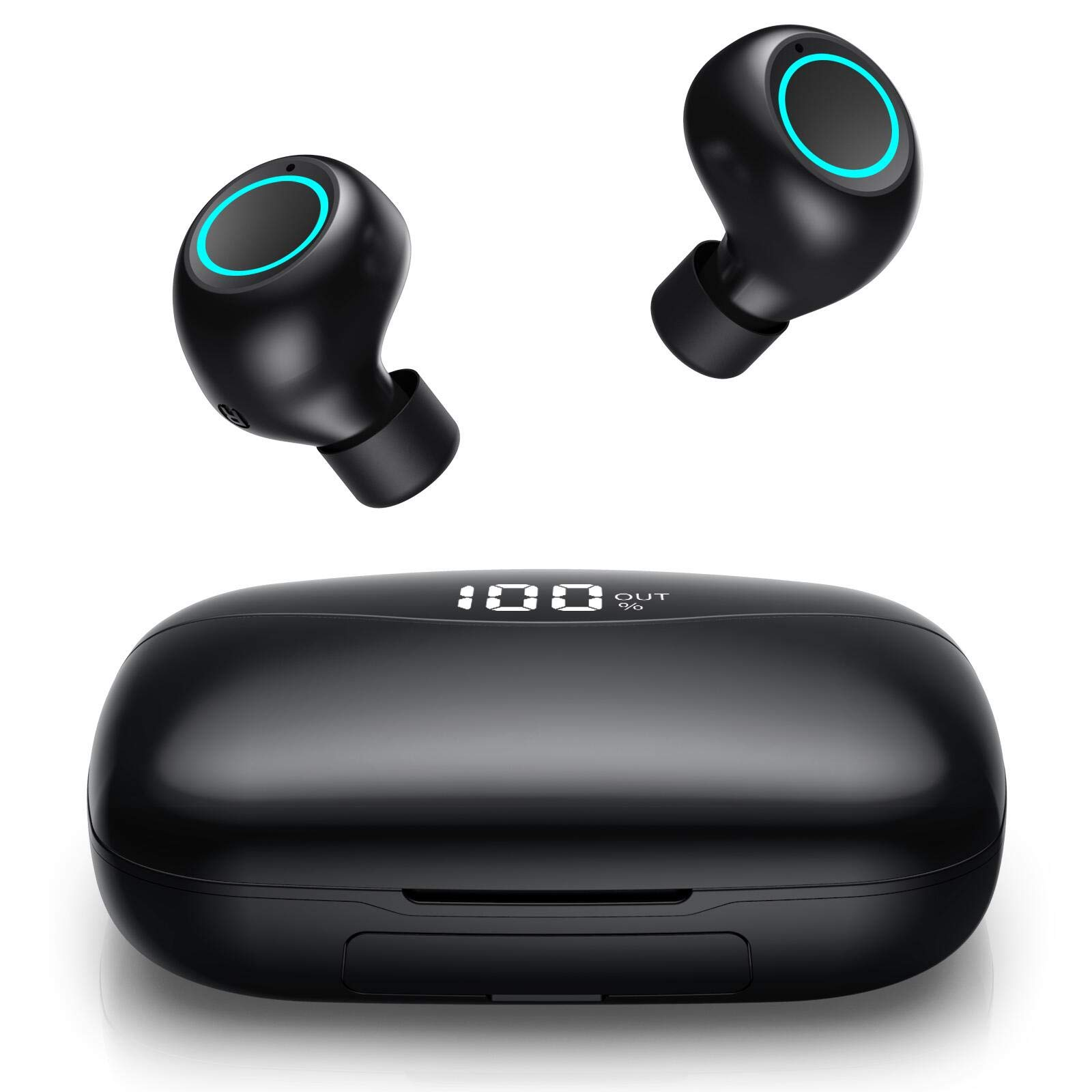 Feob Wireless Headphones Bluetooth 5 0 Earphones 2019 New Lcd Digital Display 3500mah Charging Case True Wireless Earbuds 50h Playtime 3d Stereo Sound Noise Cancelling Cvc 8 0 Headphones Waterproof Soundgenie Co Uk