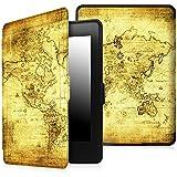 Fintie Funda Protectora para Kindle Paperwhite - Ultra Slim Ligera Shell Funda Carcasa con Auto-Sueño / Estela Función para Amazon All-New Kindle Paperwhite (2015 300 ppp 3ra Generación / 2014 / 2013 / 2012), Ancient Map