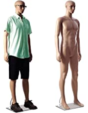 DD'S Male(Mens) Straight Full Body Mannequin Display Dummy (Skin Colour)(with Hair Wick Free)