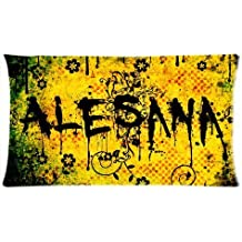 Band Alesana Custom Pillowcase Pillow Sham Queen Size Pillow Cushion Case Cover Two Sides Printed 20x36 Inches