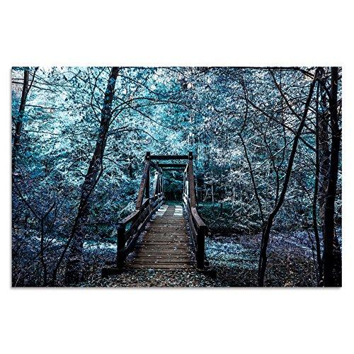 Cuadros Lifestyle Acrylglasbild   Wandbild Glasbild Acrylbild Rahmenlos   Torsten Reuter   Kleine Brücke, Größe:90x60 cm
