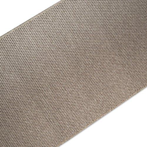 casa pura Teppich/Läufer in Sisal Optik | Flachgewebe mit Tiger-Eye-Struktur | Ausgezeichnet mit Gut-Siegel | Kombinierbar mit Stufenmatten (Taupe, 80x300 cm)