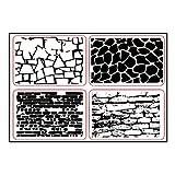 Fogun Mur Transparent Timbres pour Scrapbooking/Carte DIY Making/Enfants de Décoration Fournitures