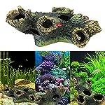 Rcool Home Fish Tank Aquarium Cave Resin Trunk Ornament Bole Landscape Decoration(12*7*11cm) 11
