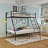Vanimeu 3FT Single 4FT6 Double Triple Bunk Bed Frame Metal for Adult Children Kids Black