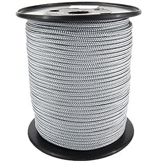 PP Seil Polypropylenseil SH 2mm 100m Farbe Silbergrau (0130) Geflochten