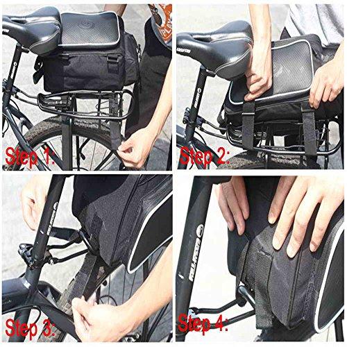 Fafada Fahrradlenkertasche Fahrrad-Zyklus Reflective Vorder Pannier Wasserdicht Outdoorbag¡ Schwarz