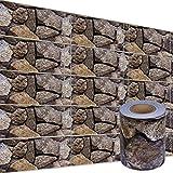 bonsport PVC Zaunsichtschutzstreifen Zaunfolie :: 35 m x 19 cm Rolle Sichtschutzstreifen inkl. Befestigungsclips, steinoptik