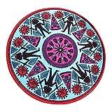 Teppiche Trendy Fashion Vintage Mayan Gemusterte Runde Personalisierte Kreative Stuhl Foyer Bodenfüllende Fenster Wohnzimmer Studie Schlafzimmer Nachttischchen Klassischen Stil Wind Heimtextilien