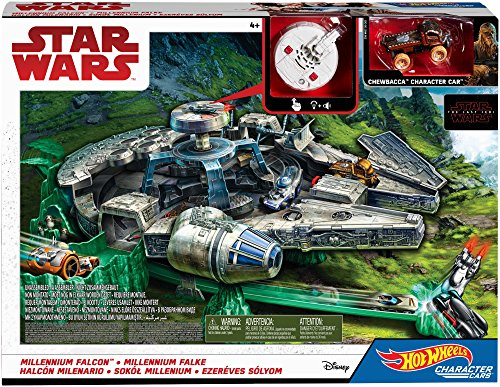 Mattel Hot Wheels DWM85 - Star Wars Episode 8 Millenium Falke Spielset