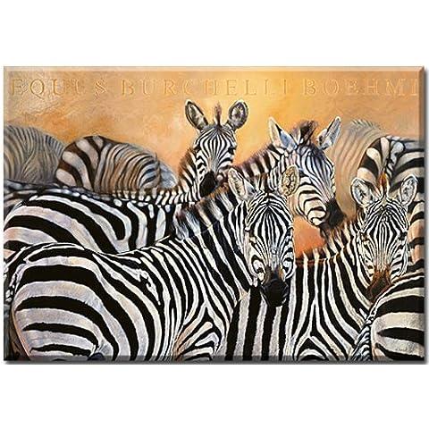 Punda Milia, cebras, Animal foto de Danielle Beck, impresión digital sobre lienzo impreso, con, impresión, Impresión Artística en lienzo tamaño 100 cm x 70 cm, Wohnen e imágenes, Lifestyle, animales en su color, cebras,