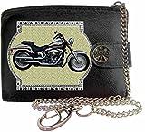 HARLEY DAVIDSON SOFTAIL Image sur portefeuille RFID pour hommes de marque KLASSEK vrai cuir avec chaîne Moto Bike cadeau d'accessoire avec boîte en métal produit HARLEY DAVIDSON Non officiel