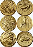 Zeus, King of the Gods, Greek Gods & Goddesses Coin Collection, (Set of 3G)