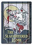 Slaughtered Lamb Replica Metal Wall Sign Plaque Wall Art. Inspired by American Wearwolf in London by Cirrus