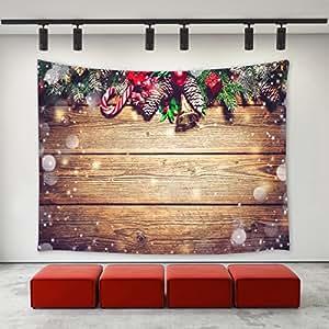 Lbkt christmas decor tapestry wall hanging christmas for Christmas wall art amazon
