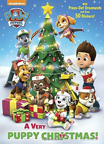 A Very Puppy Christmas! (Paw Patrol) (Color Plus Cardstock and Stickers)
