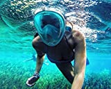 #5: Revolutionary Full Dry Snorkeling Mask 180 Degree Vision, Anti Fog, Free Breathing, (Blue Colour, S/M -Size)