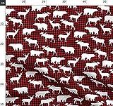 Elch, Bär, Karo, Decke Mit Büffeln, Holzfällerkaro, Jagd