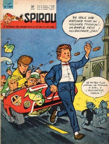 Spirou n° 1407 - 01/04/1965 - Couverture imitation Tintin