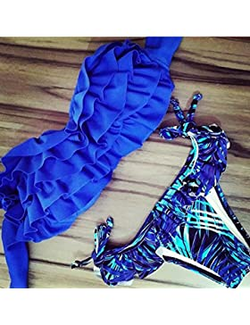 Moderno y cómodo bikini _ bañador bañador tendencia es moderna y cómoda, bikini, bikini azul Serie L