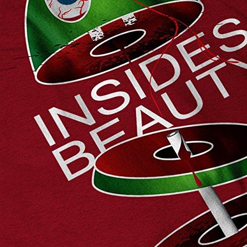 Schönheit innen Cool Komisch Gewalt Damen S-2XL Muskelshirt | Wellcoda Rot