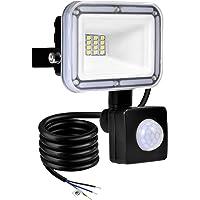 TYCOLIT Faretto LED da Esterno con PIR Sensore di Movimento, 10W 1000 lumen Bianco Diurno 6000K, Proiettore Faretto da…