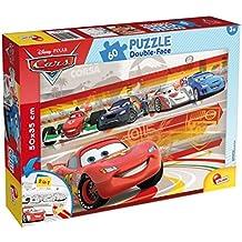 Lisciani - Cars puzzle 60 piezas y doble cara coloreable, 50 x 35 cm (Colorbaby 42662)