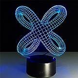 baby Q 3D LED Nachtlicht Lampe, Berühren Sie Schalter Bunte Lichter, Acryl Visual Stereo-Lichter, USB Powered Lights