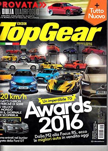 Top Gear BBC (IT) #103 2016 Tutto Nuovo Bugatti Maserati Jaguar Zeitschrift Magazin Einzelheft Heft