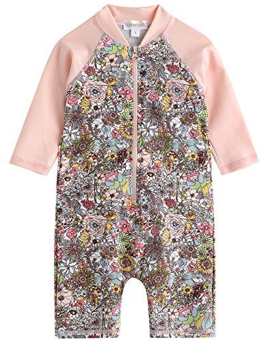 Vaenait baby 50-92 Infant Girls Longsleeves One Piece Swimsuit Baby Floral L (Trunk Floral)